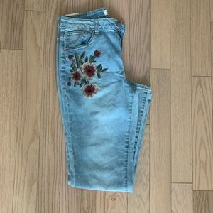 Embroidered light blue jeans by street society